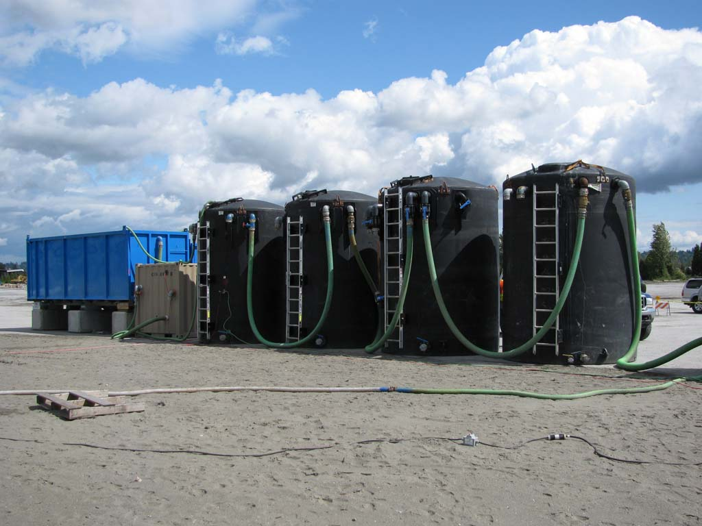 Water Tank Remediation : Sediment and erosion control vancouver sumas remediation